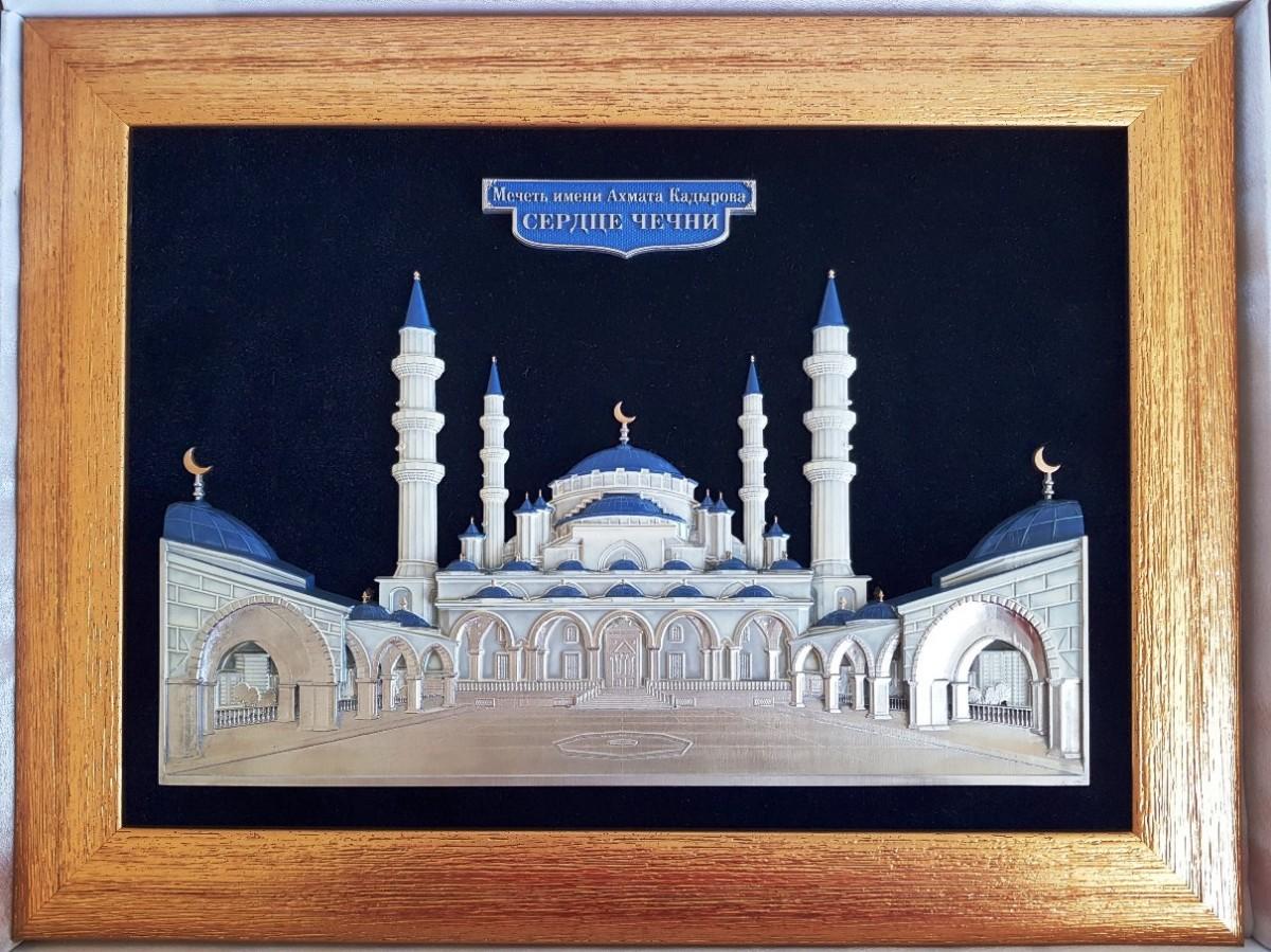 Панно Мечеть имени Ахмата Кадырова (41 на 31 см)