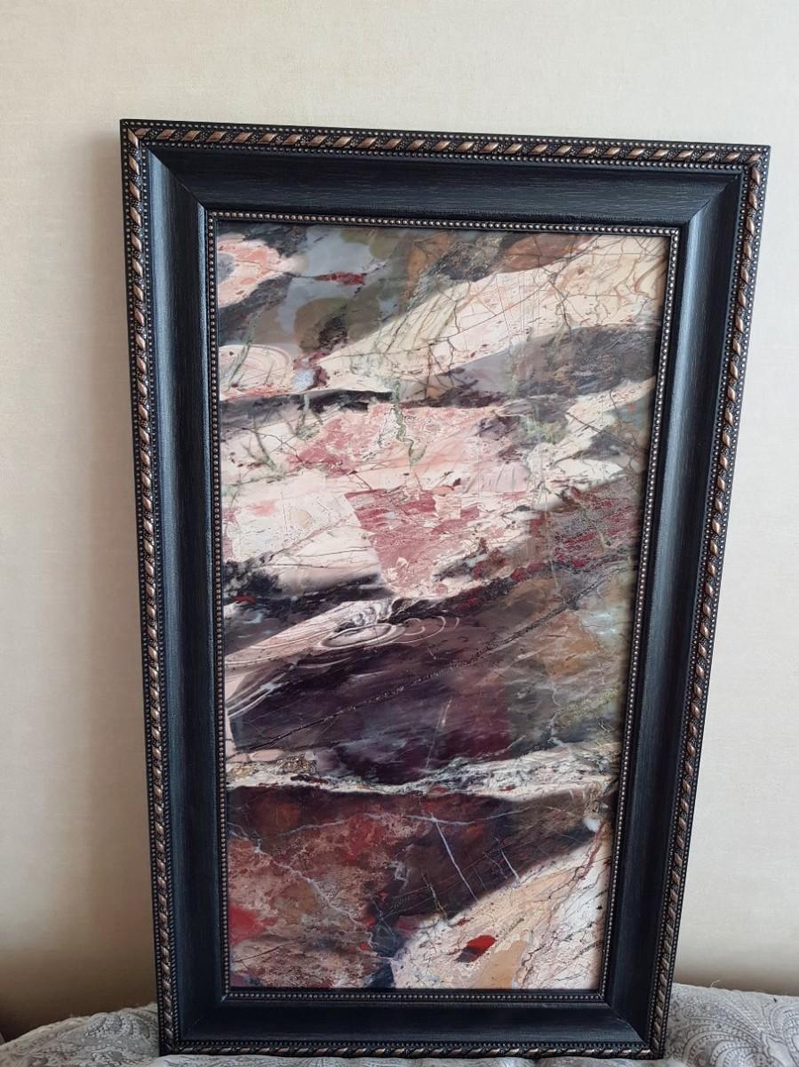 Панно из натурального камня (орская яшма)