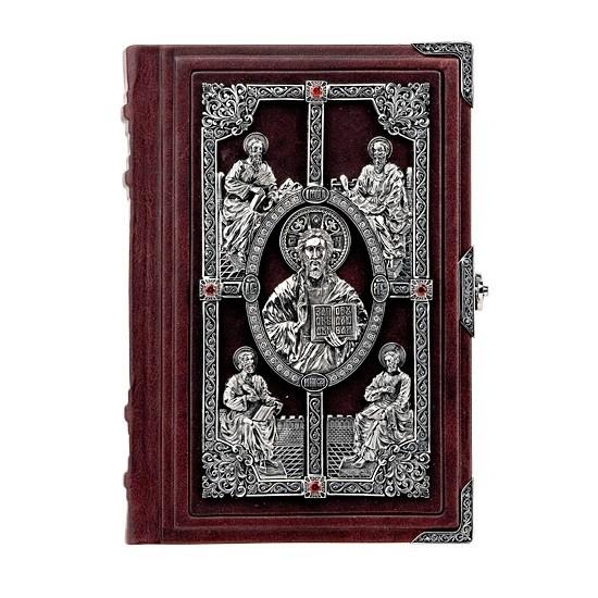 Библия «Благословение» (телячья кожа, серебро, цирконы)