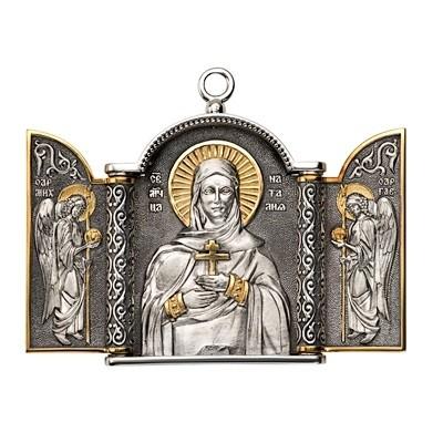 Складень «Святая Наталия» малый (серебро)
