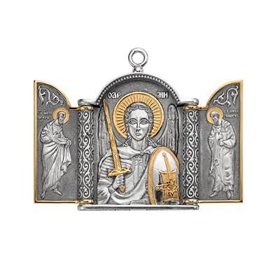 Складень «Святой Михаил» малый (серебро)