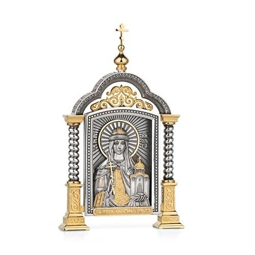 Парадная икона «Святая Ольга»
