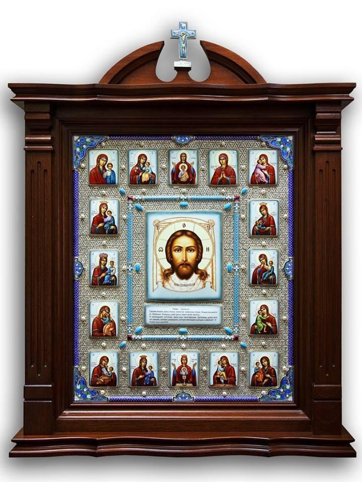 Икона Спас с клеймами Пресвятой Богородицы