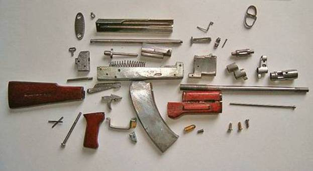 Схема автомата оружие