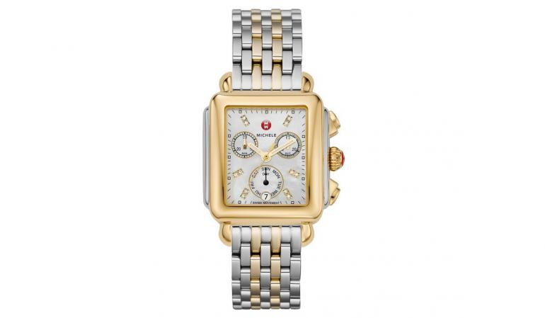 Michele Deco Two-Tone Diamond, Diamond Dial Watch MWW06P000108