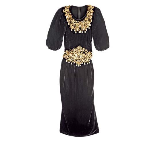 Платье dolce gabbana черное с золотым